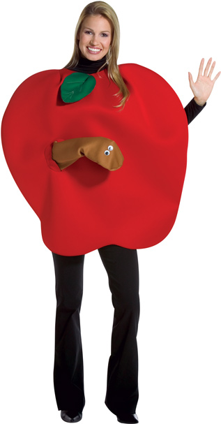 Adult Apple Worm Costume