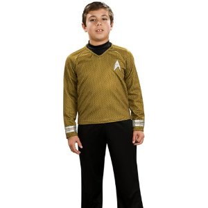 Child's Star Trek Deluxe Gold Shirt Costume