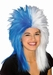 Sports Fan Blue and White Wig