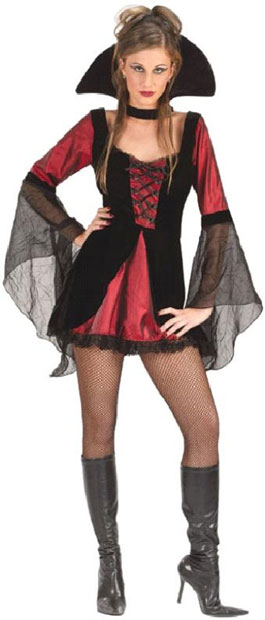 Adult Sexy Vampire Girl Costume
