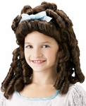 Child's Brown Southern Belle Wig