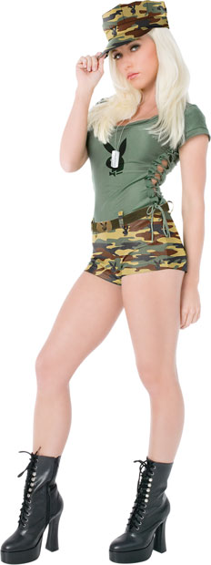 Sexy Playboy Army Girl Costume