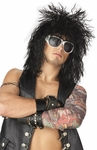 80s Black Rock Star Wig