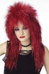 Women's Vibe Red Shimmer Wig