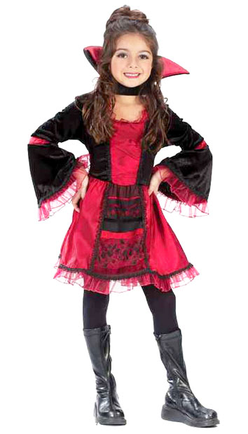 Child's Sassy Victorian Vampiress Costume