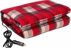 12 Volt Plaid Car Blanket