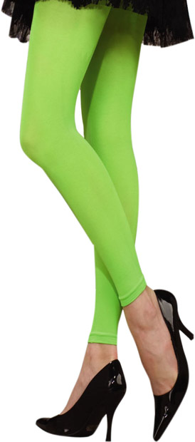 Woman's 80s Style Neon Green Leggings