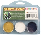 Gold, White, Dark Blue Face Paint Kit for Sports Fans