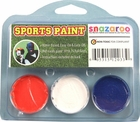 Orange, White, Blue Face Paint Kit for Sports Fans