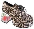 Women's Cheetah Fish Tank Platform Shoes