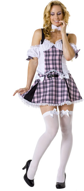 Adult Sexy Pink School Girl Costume