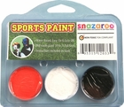 Burnt Orange, White, Black Face Paint Kit for Sports Fans