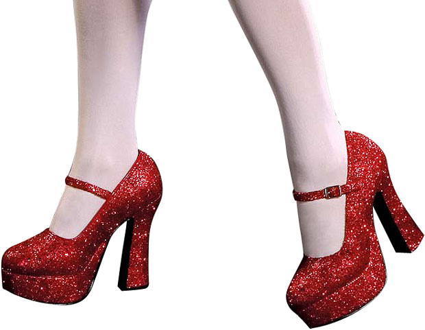 Sexy Dorothy Glitter Shoes