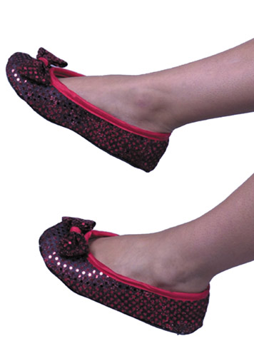 Adult Red Dorothy Costume Shoes