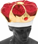 Adult Velvet King Hat