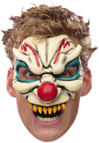 Adult Chinless Evil Clown Mask