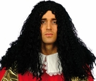 Adult Black Musketeer Wig