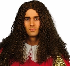 Adult Brown Musketeer Wig