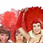 Red Feather Headpieces
