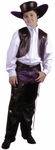 Child's Cowboy Leather Chaps & Vest Costume