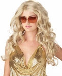 Woman's Blonde Sexy Super Model Wig