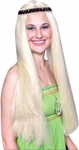Women's Blonde Hippie Wig W/ Headband