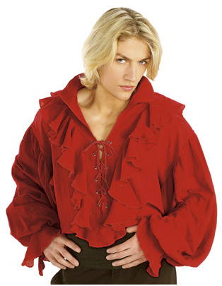 Bright Red Costume Pirate Shirt