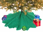 Green Glitter Tree Skirt