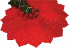 Red Glitter Tree Skirt