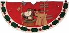 Santa & Reideer Tree Skirt
