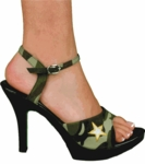 Sexy Army Girl Costume Shoes