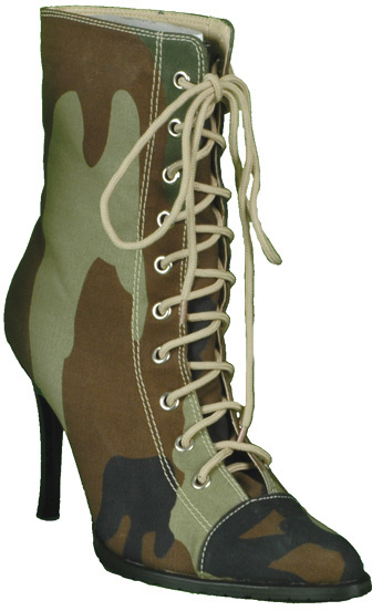 Sexy Camouflauge Army Boots