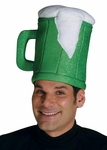 Adult Green Beer Mug Costume Hat