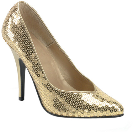 Gold Sequin Shoes