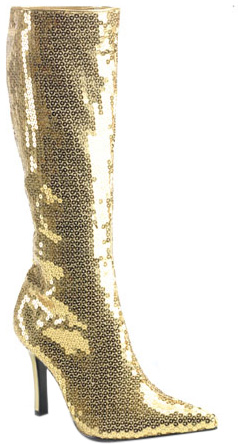Gold Sequin Boots