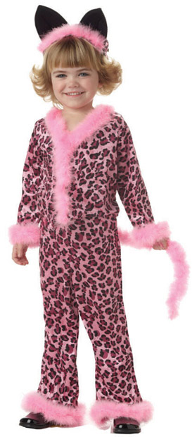 Toddler Pink Leopard Girl Costume