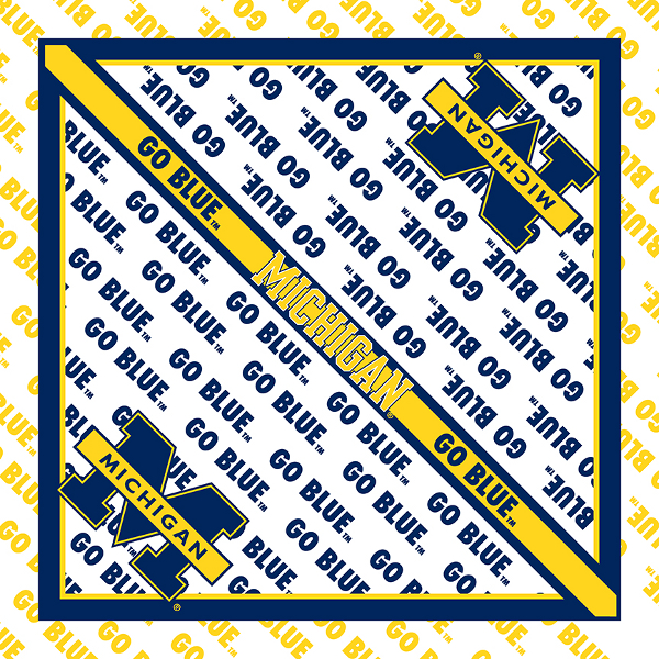 Michigan Wolverines Bandanas