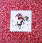 Red Plaid and Paisley Cowboy Bandanas