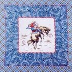 Blue Plaid and Paisley Cowboy Bandanas