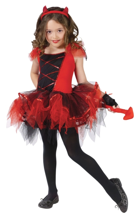 Girl's Devil Ballerina Costume