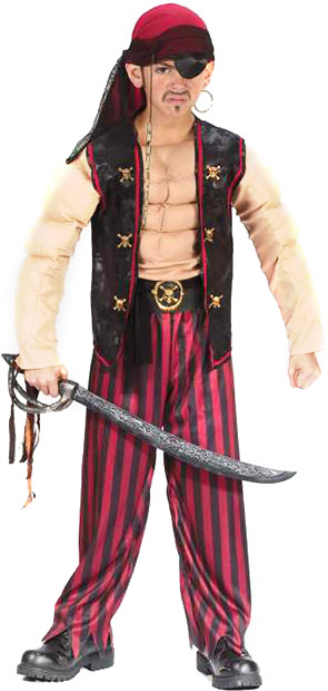 Child's Muscle Pirate Costume