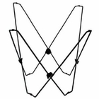 Butterfly Chair Frame, Black