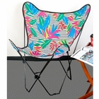 Tropical Stripes Butterfly Chair Cover