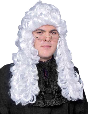Long Judge's Costume Wig
