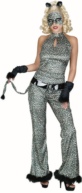 Adult Women's Leopard Cat Suit Costume
