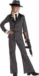 Child's Mafia Gangster Girl Costume