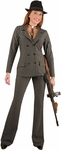 Women's Wide Striped Gangster Costume