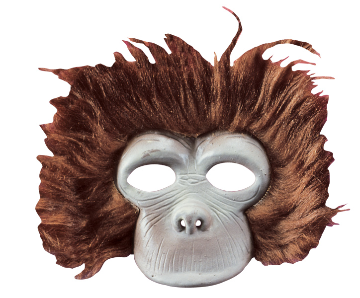 Child's Plush Chimp Mask