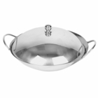"7.75"" Stainless Steel Commercial Wok Cover"