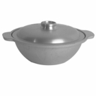 "9"" Flat-Bottom Aluminum Commercial Wok"